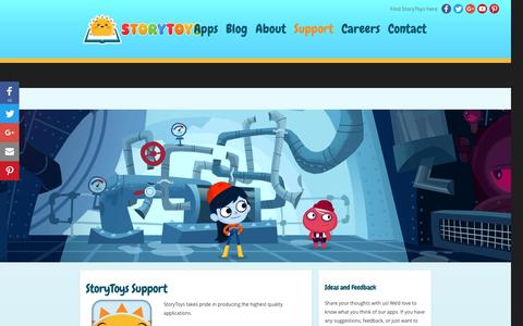 """Screenshot of Support Page storytoys.com - StoryToysâ""""¢ - App & IAPs (In App Purchase) Support - captured Nov. 27, 2016"""