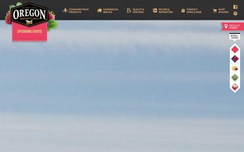 Screenshot of Home Page oregonfruit.com - Oregon Fruit Products - captured Oct. 7, 2014