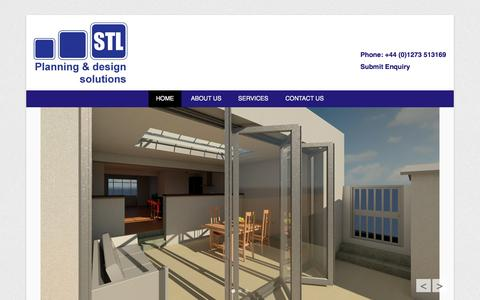 Screenshot of Home Page Menu Page st-limited.co.uk - Simon Tucker Limited   Planning & Design Solutions - captured Oct. 3, 2014