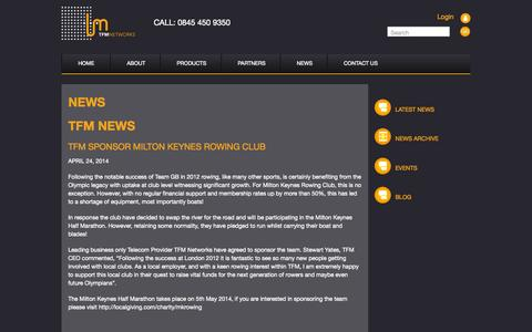 Screenshot of Press Page tfmnetworks.com - News - TFM Networks - captured Oct. 7, 2014
