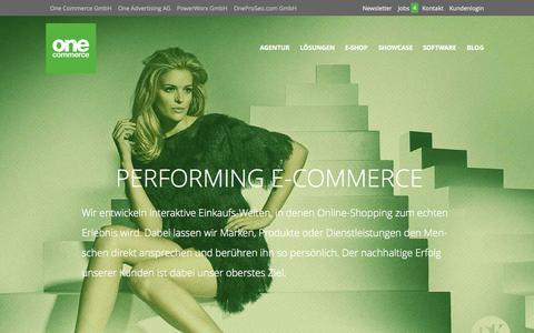 Screenshot of Home Page onecommerce.de - E-Commerce Agentur für Onlineshops und Websites- | One Commerce GmbH - captured Nov. 17, 2015