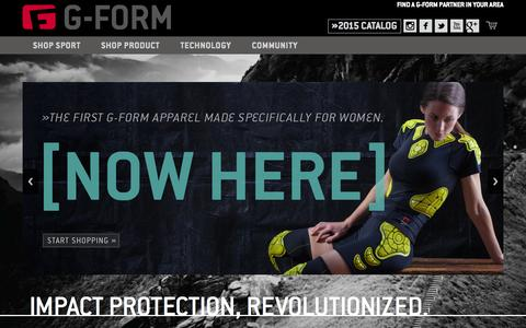 Screenshot of Home Page g-form.com - G-Form - captured July 16, 2015