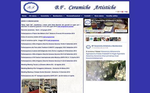 Screenshot of Press Page bfceramiche.it - Corsi di ceramica 2014 - BF Ceramiche news informazioni comunicazioni fiere FaceBook - Savona - Albisola - Liguria - captured Nov. 21, 2016