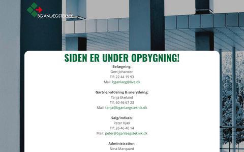 Screenshot of Home Page bganlaegsteknik.dk - BG Anlægsteknik | - captured Oct. 23, 2017
