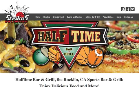 Screenshot of Menu Page Hours Page strikesrocklin.com - Your Rocklin, CA Sports Bar and Grill | Strikes Unlimited - captured Dec. 16, 2016