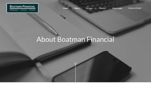 Screenshot of About Page boatmanfinancial.co.uk - Boatman Financial Ltd - captured Oct. 6, 2018
