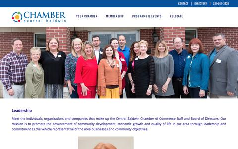 Screenshot of Team Page centralbaldwin.com - Central Baldwin Chamber of Commerce | Leadership - captured July 20, 2017