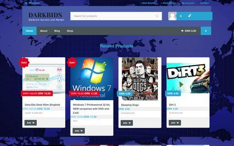 Screenshot of Home Page darkbids.com - Home | DARKBIDS - captured Sept. 19, 2014