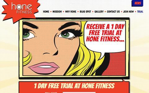 Screenshot of Trial Page honefitness.com - Trial - Home Fitness Toronto - captured Nov. 2, 2014