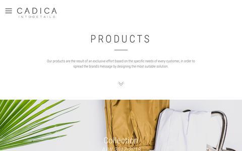 Screenshot of Products Page cadica.com - Prodotti - Cadica - captured Oct. 12, 2016