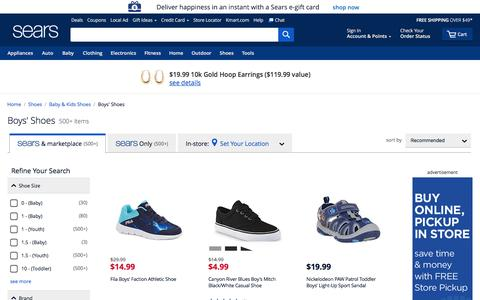 Boys' Shoes | Boys' Footwear - Sears