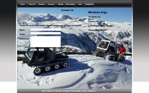 Screenshot of Contact Page montanaargo.com - Montana Argo  Contact Page - captured Oct. 9, 2014