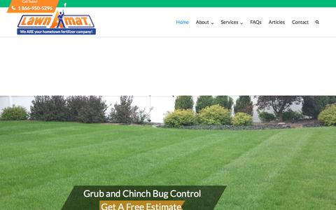 Screenshot of Home Page lawnamat.net - Lawn Care Bergen County NJ | Orange County NY Lawn Care - captured May 15, 2017