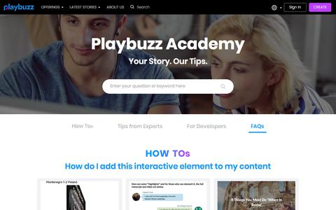 Playbuzz Academy