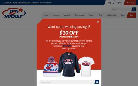Screenshot of Login Page shopusahockey.com - Customer Login - captured Nov. 30, 2016