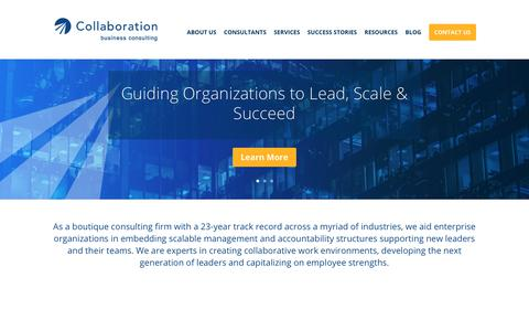 Screenshot of Home Page collaboration-llc.com - Home - Collaboration - captured Dec. 15, 2018