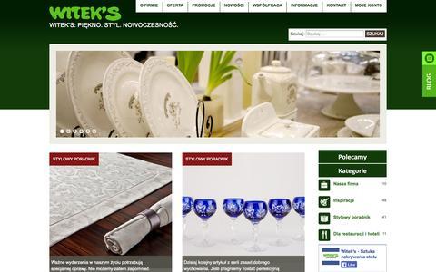 Screenshot of Blog witeks.pl - Witeks | Witek's: Piękno. Styl. Nowoczesność. - captured Sept. 23, 2014