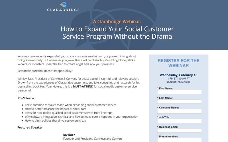 Webinar: How to Expand Your Social Customer Service Program Without the Drama