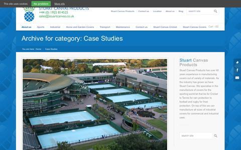 Screenshot of Case Studies Page stuartcanvas.co.uk - Case Studies Archives - Stuart Canvas - captured Oct. 8, 2014
