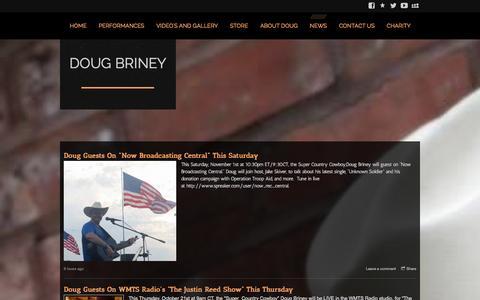 Screenshot of Press Page dougbriney.com - Doug Briney - News - captured Oct. 30, 2014