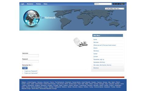 Screenshot of Login Page unitedtaxnetwork.com - Login - captured Oct. 27, 2014