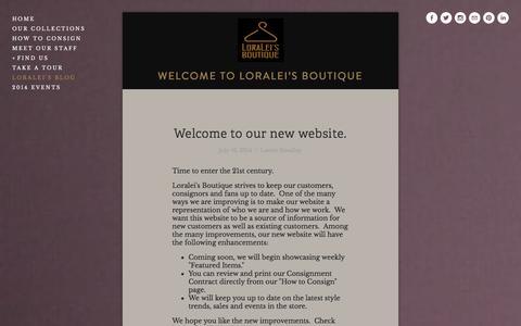 Screenshot of Blog loraleidayton.com - Loralei's Blog — Loralei's Boutique - captured Oct. 9, 2014