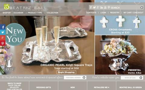 Screenshot of Home Page beatrizball.com - Beatriz Ball Collection - Beatriz Ball Collection - captured Sept. 19, 2014