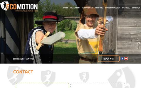 Screenshot of Contact Page ecomotion.nl - Contact - Ecomotion - captured Sept. 27, 2018