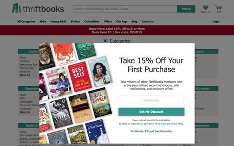 Screenshot of Site Map Page thriftbooks.com - All Book Categories | thriftbooks.com - captured May 20, 2019