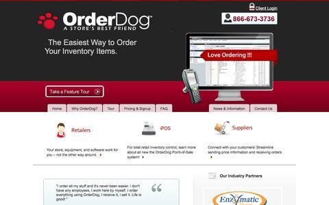 Screenshot of Home Page orderdog.com - Order Dog - Online Software for Purchase Orders, Sales Orders, Inventory, ScannersOrder Dog | Online Software for Purchase Orders, Sales Orders, Inventory, Scanners - captured Nov. 29, 2016