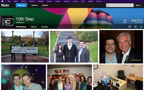 Screenshot of Flickr Page flickr.com - Flickr: 10thstep.com's Photostream - captured Oct. 26, 2014