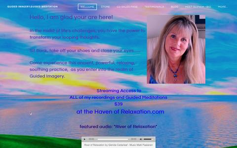 Screenshot of Home Page guidedimagerycd.com - guided imagery,guided meditation - Welcome - captured Oct. 5, 2016