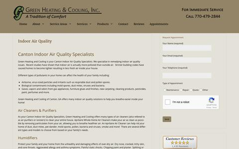 Canton Indoor Air Quality Specialists - Green Heating and Cooling