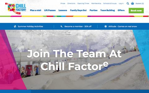Screenshot of Jobs Page chillfactore.com - Chill Factore | Jobs - captured July 17, 2018