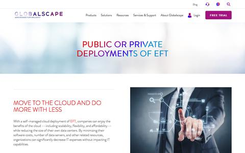 Public or Private Deployments of EFT | Globalscape