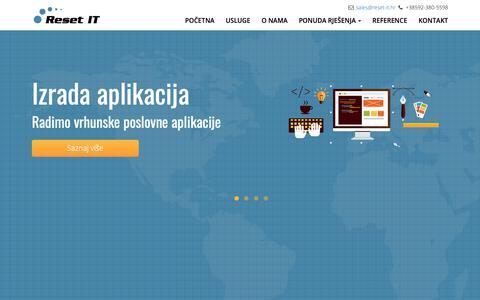 Screenshot of Home Page reset-it.hr - Izrada aplikacija, poslovne aplikacije, mobilne aplikacije, poslovanje u oblaku | Reset IT d.o.o. - captured Nov. 18, 2018