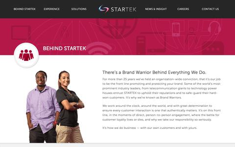 Screenshot of Team Page Locations Page startek.com - There's a Brand Warrior Behind Everything We Do - STARTEK - captured Oct. 6, 2017