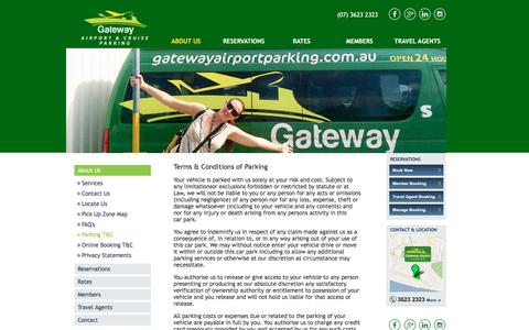 Screenshot of Terms Page gatewayairportparking.com.au - Terms and Conditions  - Gateway Airport Parking - captured May 15, 2017