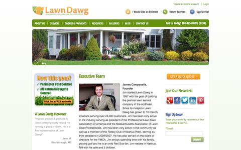 Screenshot of Team Page lawndawg.com - Lawn Care Professionals | Pro Lawn Care | Lawn Care Services in MA - captured Sept. 29, 2014