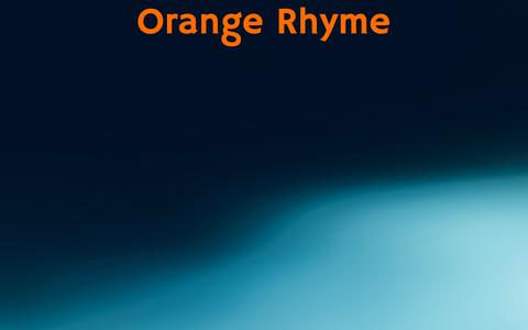 Screenshot of Home Page orangerhyme.com - Orange Rhyme — orangerhyme.com - captured Sept. 20, 2018