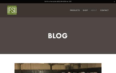 Screenshot of Blog flooring-solutions.com - Flooring Solutions — Blog - captured Oct. 10, 2018