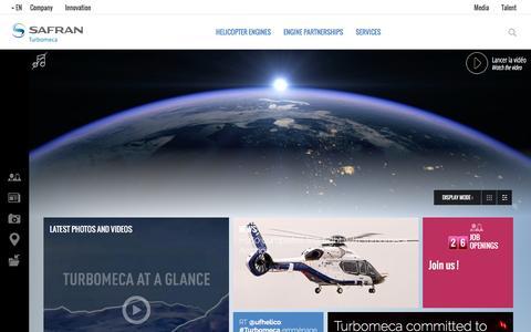 Screenshot of Home Page turbomeca.com - Turbomeca - captured Feb. 22, 2016