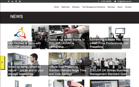 Screenshot of Press Page zoller-uk.com - News - Zoller UK - captured Sept. 21, 2018