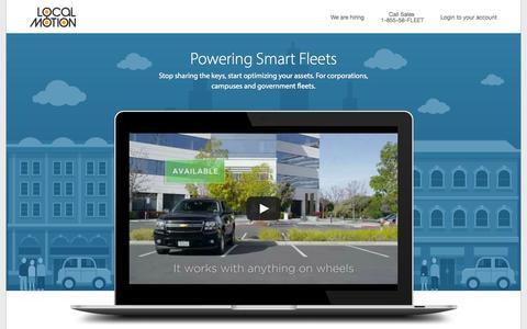 Screenshot of Home Page getlocalmotion.com - Local Motion - Powering Smart Fleets - captured Sept. 16, 2014