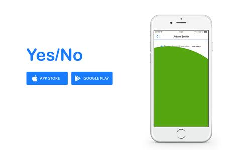 Screenshot of Home Page Privacy Page yesnoapp.co - Yes/No App - captured Nov. 17, 2015