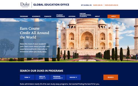 Home Page | Global Education Office