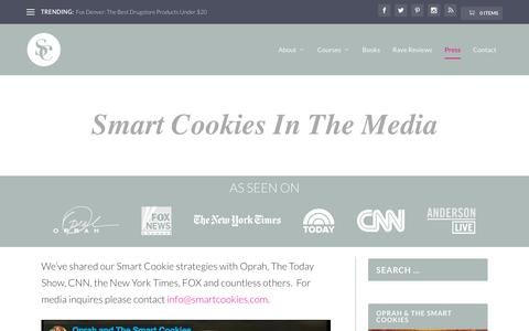 Screenshot of Press Page smartcookies.com - Press - SmartCookies - earn more money, spend smarter, and get out of debt. - captured May 28, 2017