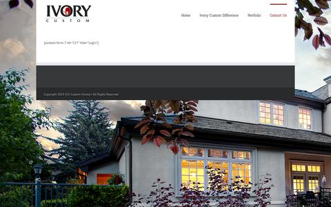 Screenshot of Login Page ivorycustom.com - Ivory Custom   –  Login - captured Oct. 3, 2014