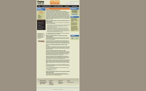 Screenshot of FAQ Page primepowerenergy.com - Standby Generators   Backup Generators- Prime Power FAQ - captured Oct. 3, 2014