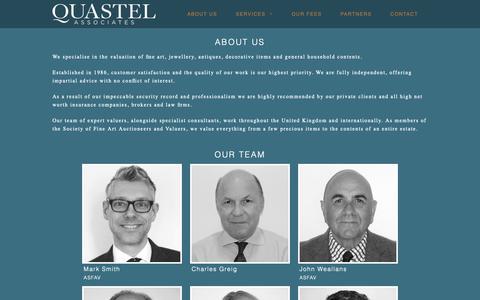 Screenshot of About Page quastelassociates.com - Quastel Associates - captured Sept. 30, 2018